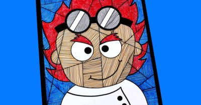 feature printable mad scientist art project