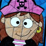 Free Printable Pirate Girl Craft Art
