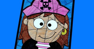 feature printable pirate girl craft