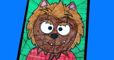 feature printable werewolf craft art