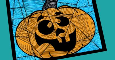 feature silly halloween pumpkin craft