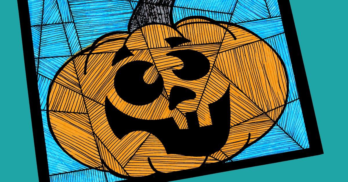 feature silly halloween pumpkin craft