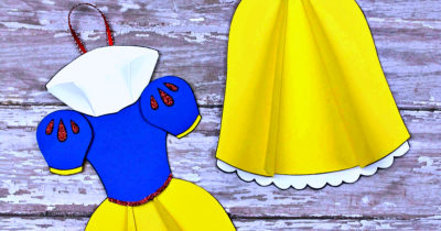 feature snow white ornament craft