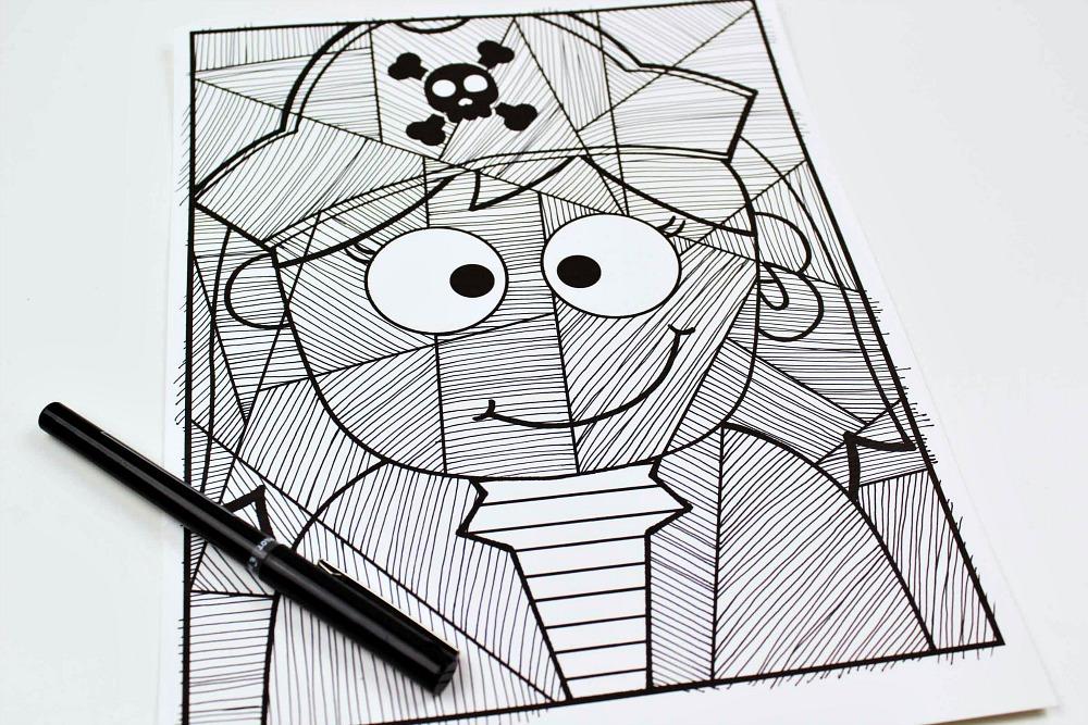 in process pirate girl craft
