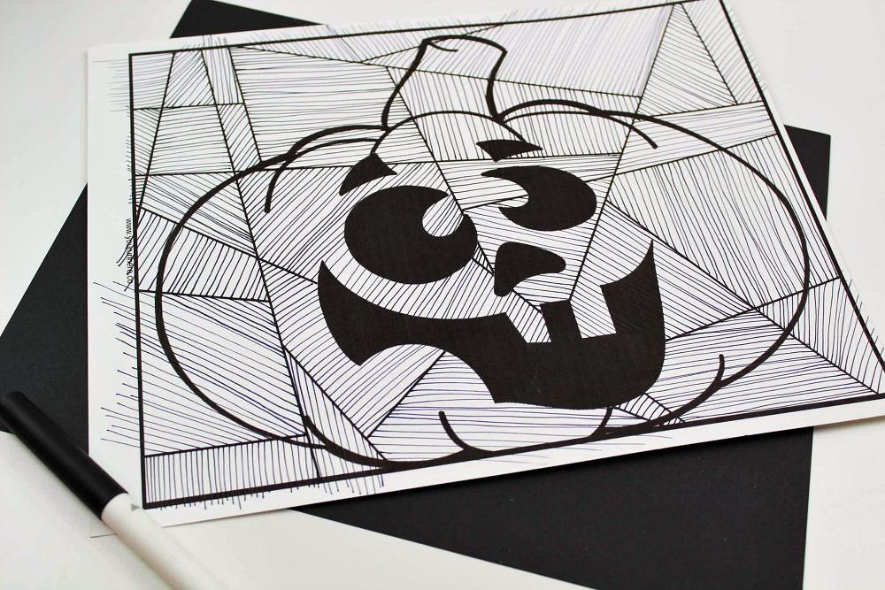 in process silly pumpkin craft