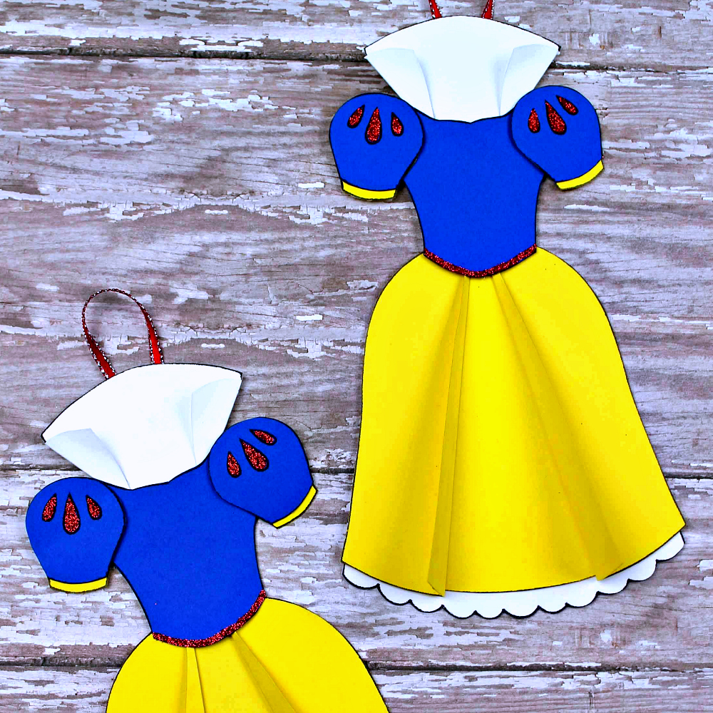 insta snow white dress ornament