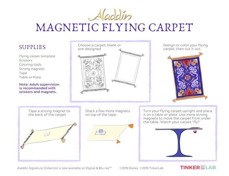 instructions for flying carpet craft