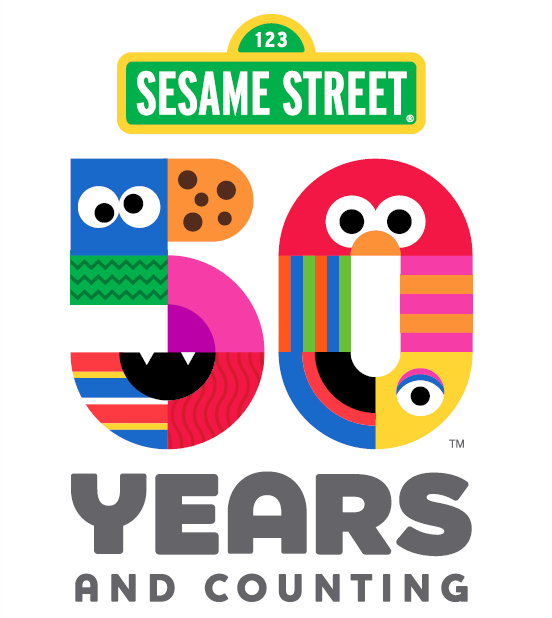 logo sesame street 50 years