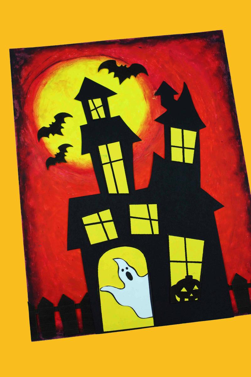 Haunted House Craft #Halloween #KidsCraft #Craft #FreePrintable #Printable #PrintableCraft #HalloweenCraft #HauntedHouse #HauntedHouseCraft