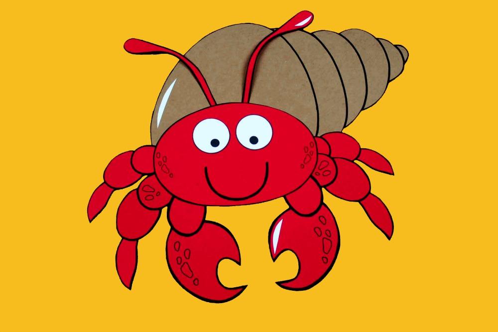 one cute hermit crab printable