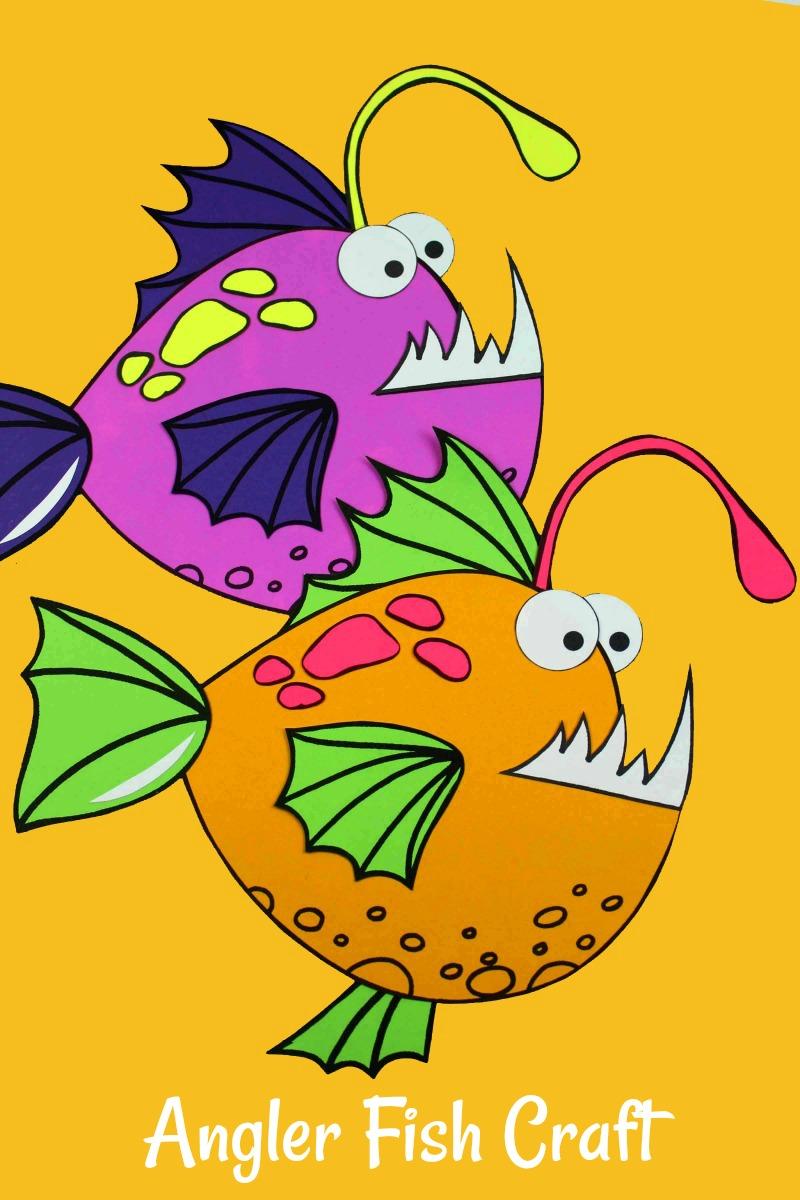 pin angler fish craft