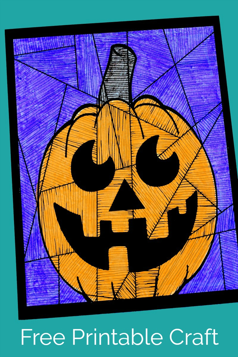 pin halloween happy pumpkin craft