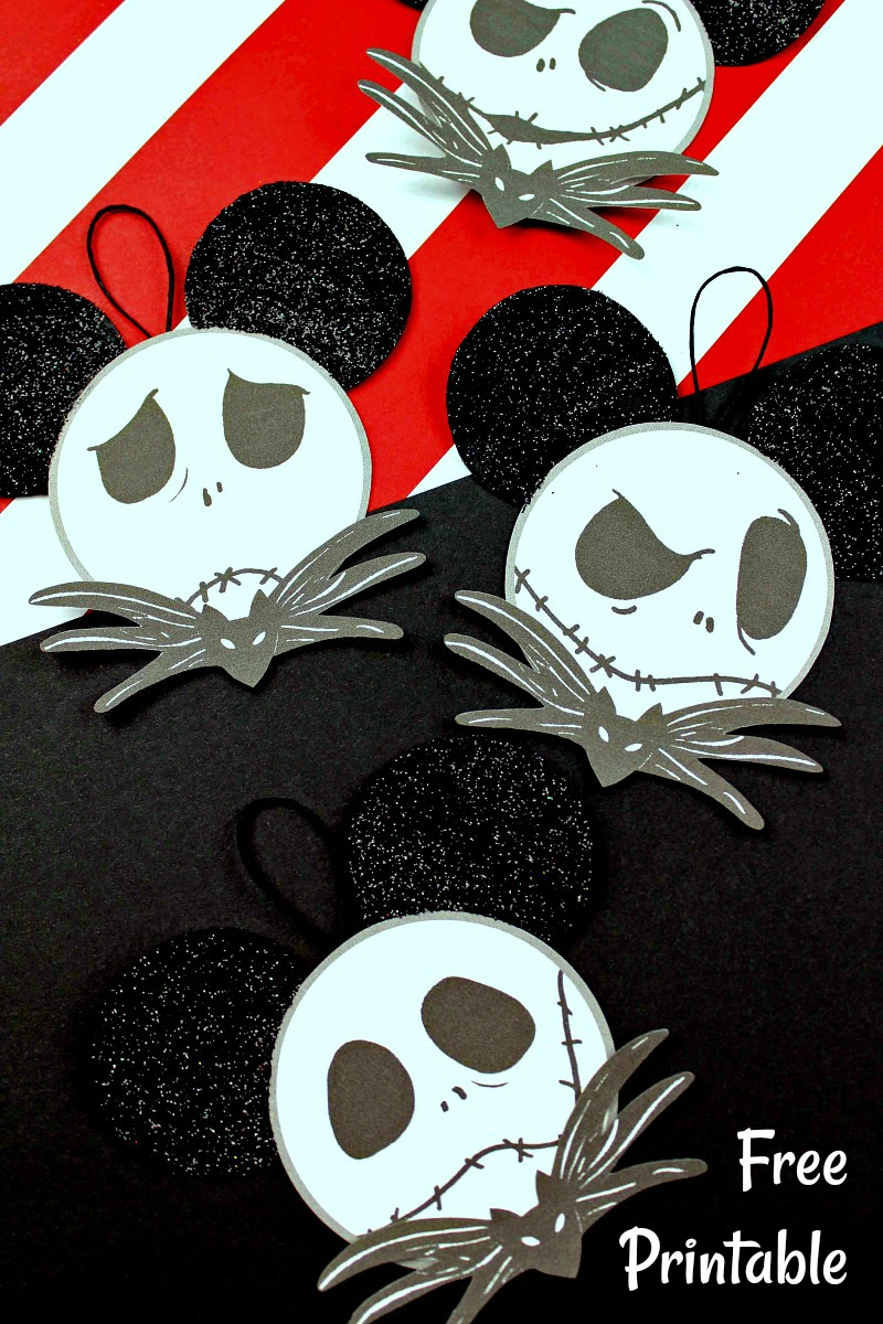 pin mickey ear jack face ornaments