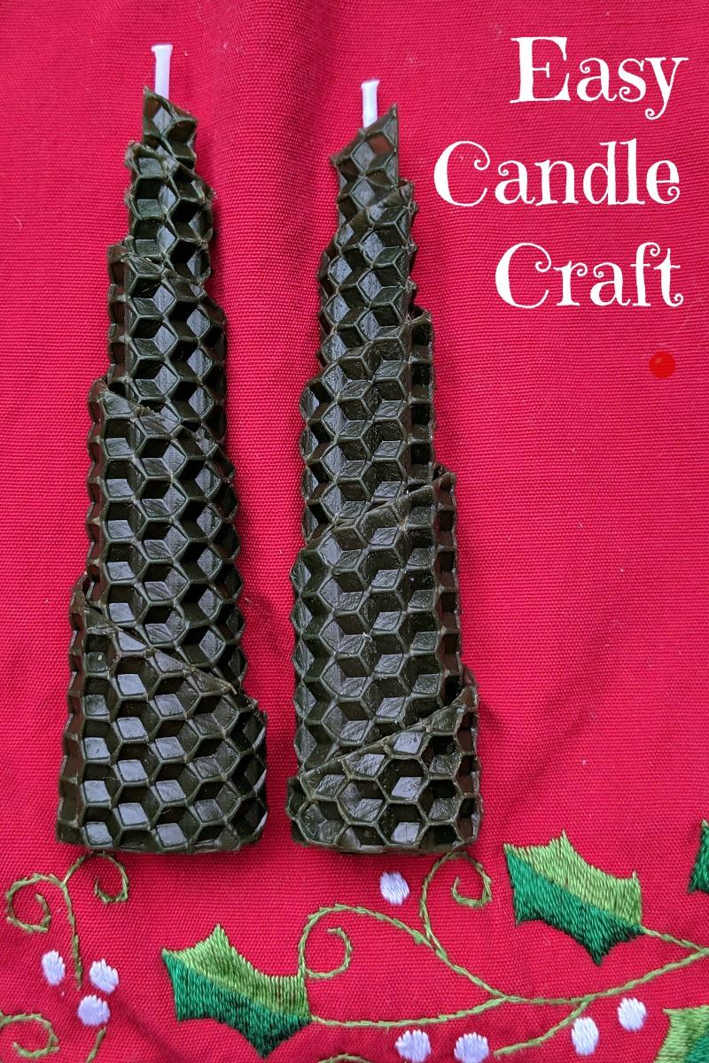 Christmas Tree Beeswax Candle Craft