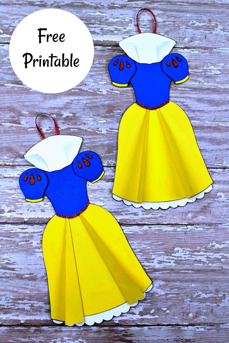 pin two snow white dress ornaments