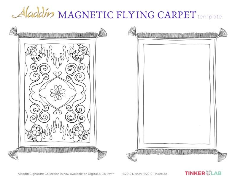 printable flying carpet