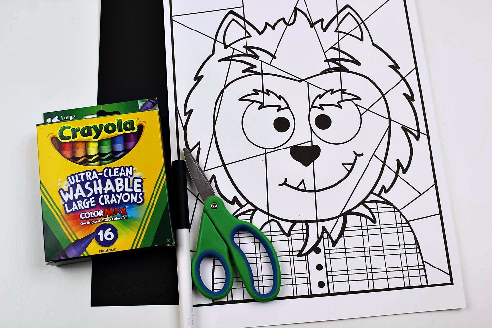 printable werewolf craft supplies