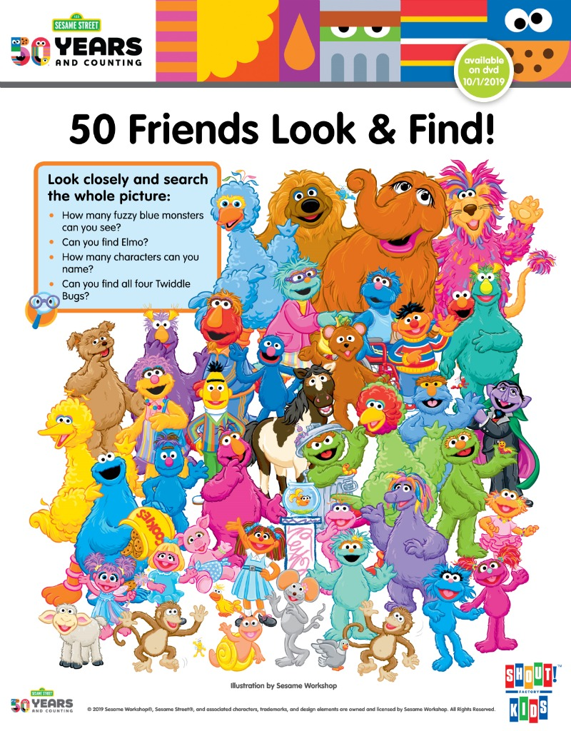 Sesame Street Look and Find Activity Page #SesameStreet #FreePrintable #PrintableActivity
