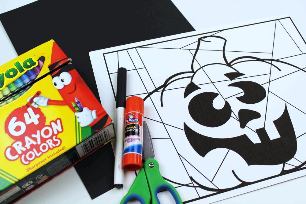 supplies silly pumpkin craft