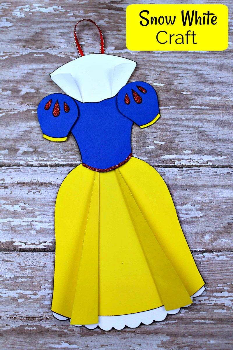 text pin disney snow white dress ornament