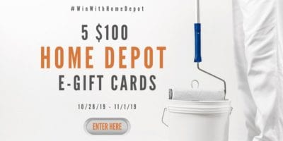 Win With Home Depot Gift Card Giveaway