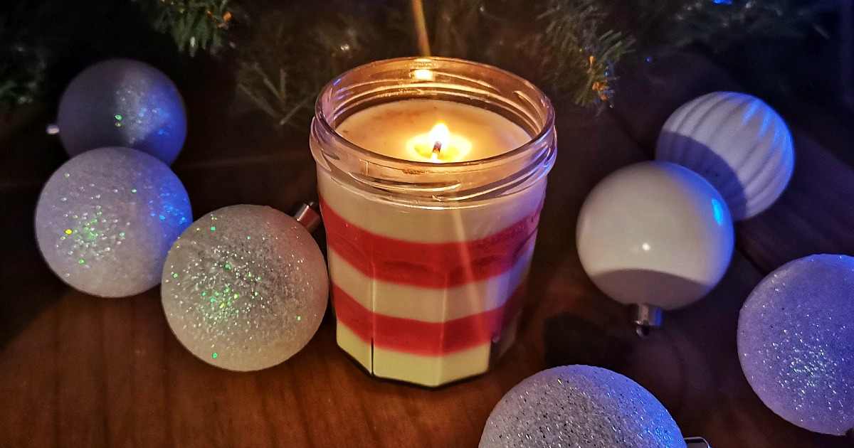 diy homemade peppermint candle craft