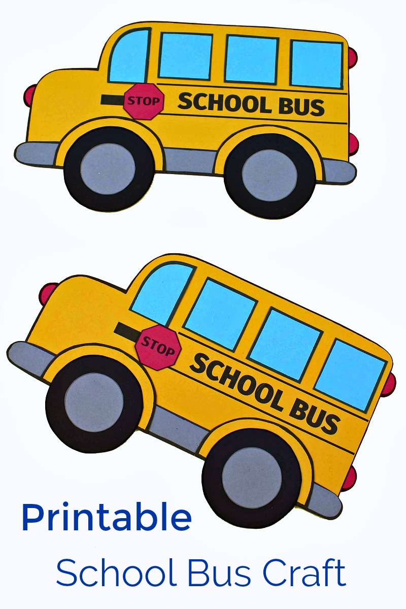 pin printable papercraft school bus