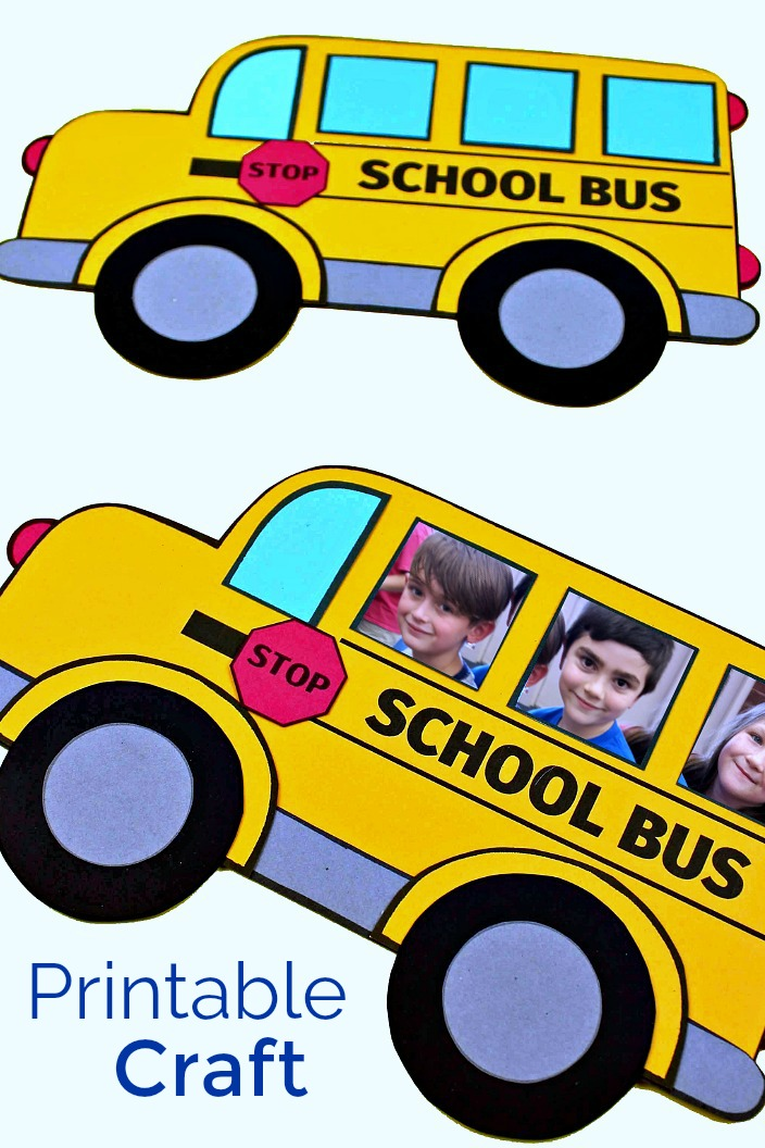 Free Printable School Bus Craft #FreePrintable #PrintableCraft #SchoolBus #SchoolBusCrafts #BackToSchool #BackToSchoolCrafts