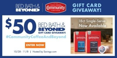savings bed bath and beyond giveaway