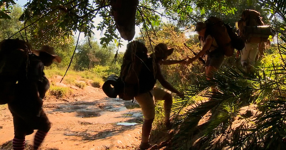 women hiking in the african wilderness