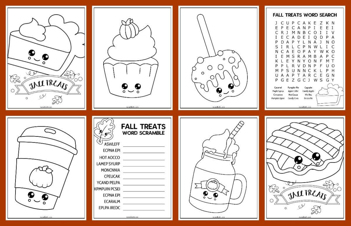 8 fall activity pages
