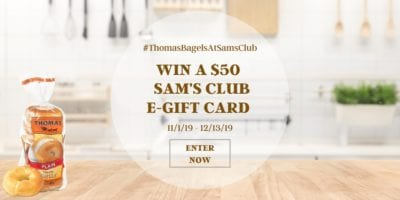 Giveaway - Thomas Bagels at Sams Club