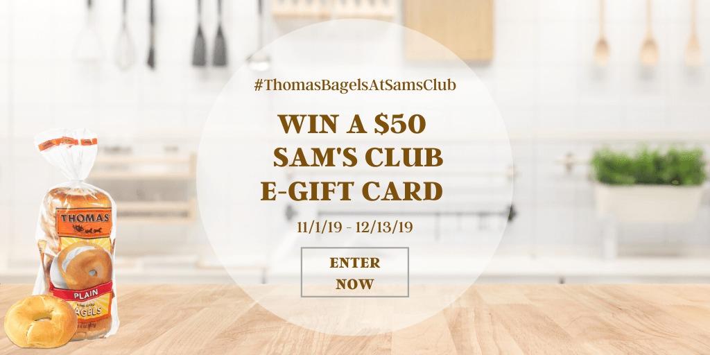 Giveaway - Thomas Bagels at Sams Club