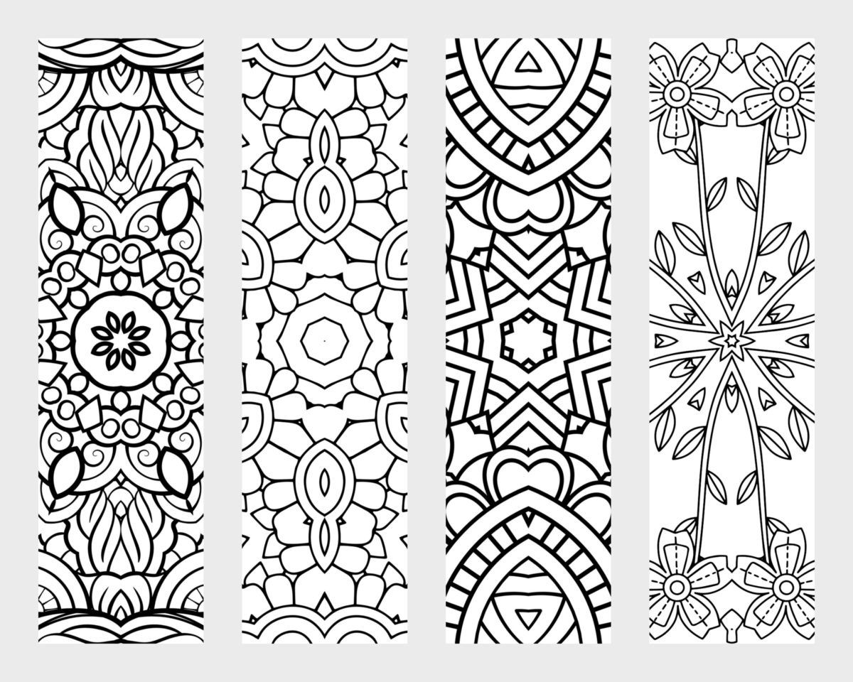 adult coloring bookmarks printable