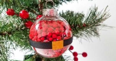 christmas santa ball ornament craft