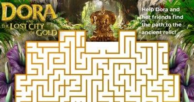 free printable dora maze