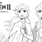 Frozen 2 Free Printable Anna and Elsa Coloring Page