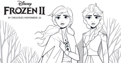 feature frozen anna and elsa coloring page