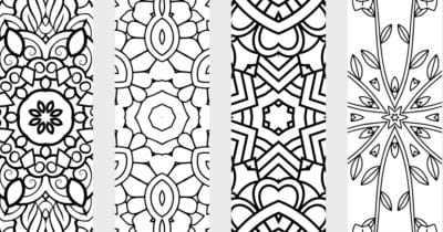 feature printable bookmarks to color