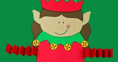 feature printable elf girl craft