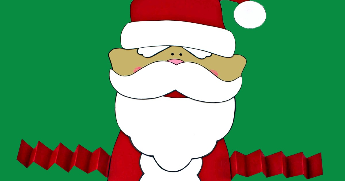 This is a graphic of Printable Santa Claus intended for colourful