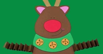 pin free printable reindeer accordion leg craft