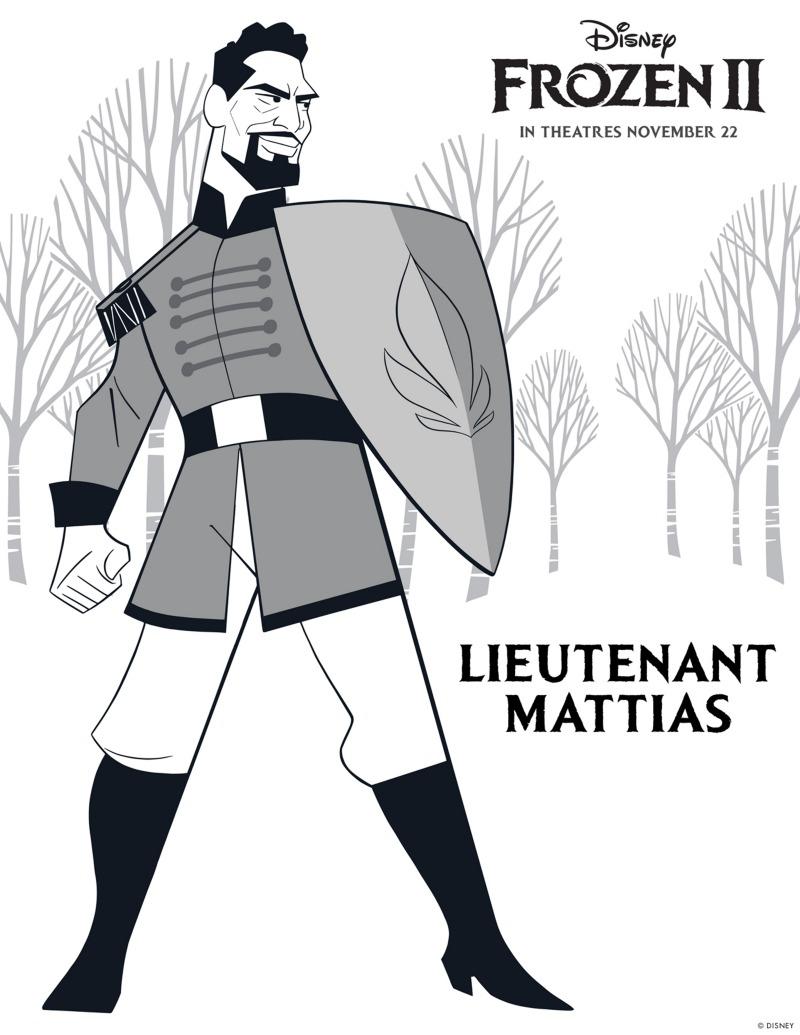 Free Printable Frozen Lieutenant Mattias Coloring Page Mama