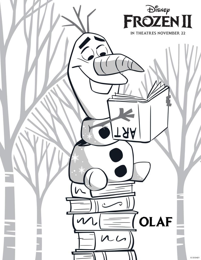 Free Printable Disney Frozen 2 Olaf Coloring Page #Olaf #Disney #Frozen #Frozen2 #ColoringPage #FreePrintable #snowman