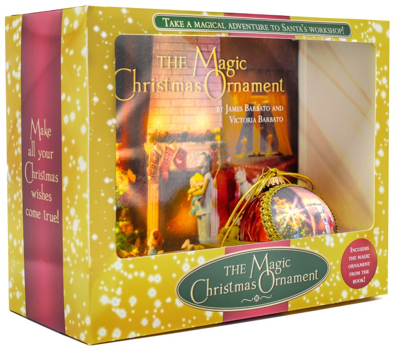 magic christmas ornament gift set