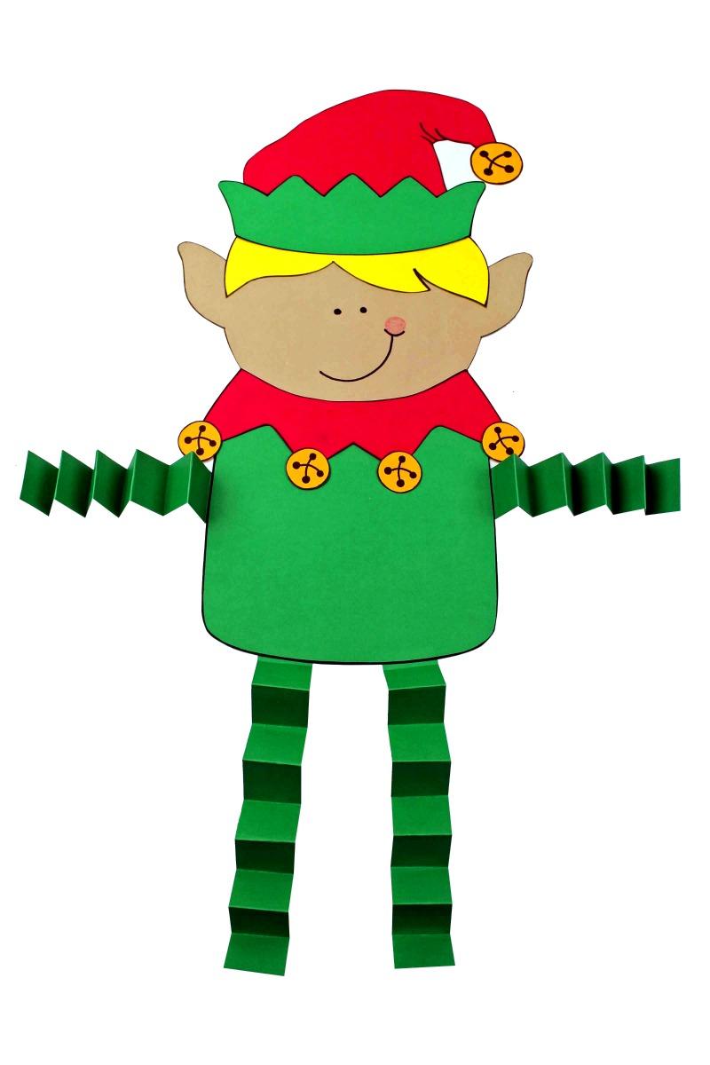 Christmas Elf Craft #Elf #ElfCraft #ChristmasCraft #Craft #AccordionLegCraft