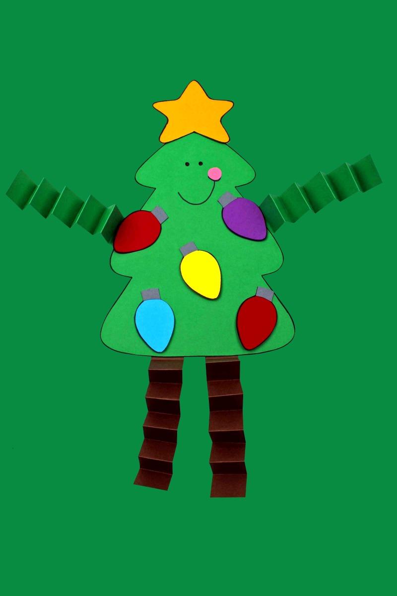 Christmas Tree Craft with free printable template