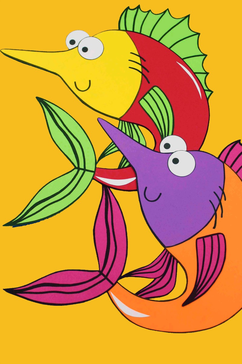 When you want some under the sea fun, make my colorful swordfish craft. Just use my template, so you can make these cute fish.
