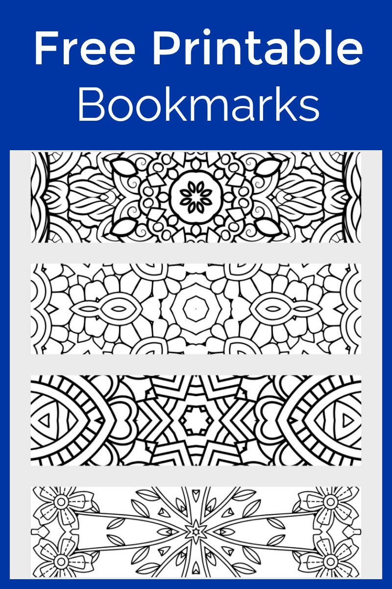 Free Printable Bookmarks To Color - Fun for Adults and Kids #FreePrintable #ColoringPage #Bookmarks #PrintableColoringPage #AdultColoring