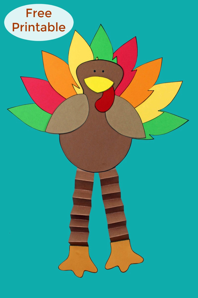 pin a free printable thanksgiving turkey craft